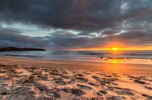 Strand, Sonnenuntergang Lanzarote